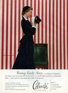 Dress by David Crystal - Celanese 1949