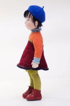 Mia Handmade cloth doll от AldegondeCeelen на Etsy