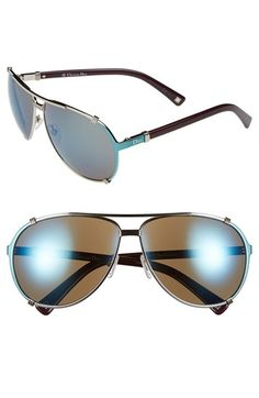 Dior 'Chicago' 63mm Metal Aviator Sunglasses available at #Nordstrom