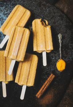 Pumpkin ice cream (vegan) / Pumpaglass med ingefära och kanel - Evelinas Ekologiska