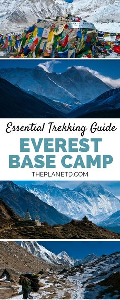 How to hike to the Base Camp of Mount Everest; everything you need to know to prepare. Trekking to Everest Base Camp is an adventure on its own and requires mental and physical fitness and stamina. Spend your time traversing through the Himalayas with a guide and cross several suspension bridges along the way. Adventure travel in Nepal. | Blog by the Planet D #Nepal