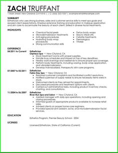 esthetician resume with no experience resume template entry level esthetician resume sample http resumesdesign
