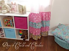 Days of Chalk and Chocolate: Girly Ruffled Curtains and Inspiration