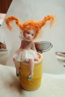 original FaeWee* tiny fairy/wee people Dolls sculpted from polymer clay                                                                                                                                                                                 More