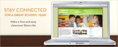 Stay Connected For A Great School Year  Shutterfly offers a great classroom website that allows you to use calendars, post photos, create sign up lists and more!  Great way to do a classroom website! And you can password protect the whole thing! I'm heading into my 3rd year using this site! Yeah!