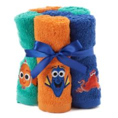 Disney Pixar 6 Pack Finding Dory Hank Nemo Washcloths By Jumping Beans
