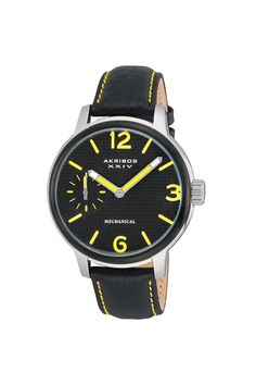 Akribos XXIV Mechanical Strap Watch Stainless Steel/Black