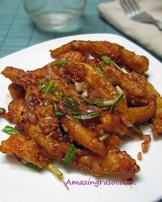 AmazingRasoi: Chilli Garlic Babycorn Chilli Recipes, Veg Recipes, Indian Food Recipes, Asian Recipes, Vegetarian Recipes, Cooking Recipes, Healthy Recipes, Recipies, Snack Recipes