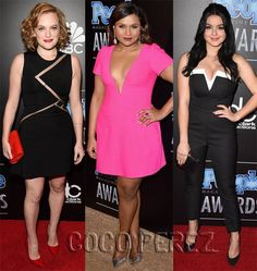 Mindy, Elisabeth, and Ariel at the People Magazine Awards.