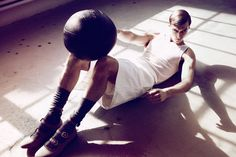 """""""The Olympian"""", GQ China July 2012, Clement Chabernaud by Dusan Reljin"""