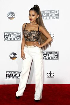 The Best Part of Ariana Grande AMAs Look Couldn't Be Seen on the Red Carpet  #ArianaGrande #AMAs #Makeup #Hairstyles #Dress #Look #RedCarpet #AmericanMusicAwards #Songs
