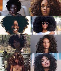 Black Girl Aesthetic: Natural Hair *Tag source*