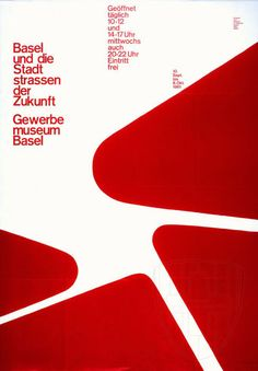 Gewerbe Museum poster, Armin Hofmann (1961)