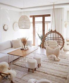 Living Room Decor Cozy, Boho Living Room, Home And Living, Bedroom Decor, Small Living, Modern Living, Relaxing Living Rooms, Living Area, Bedroom Ideas