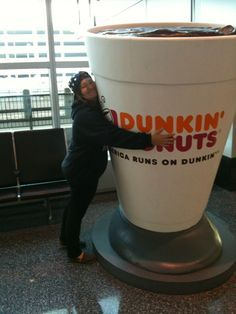 When I go to Dunkin and ask for a coffee big enough to dive into and drink my way back out!