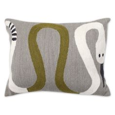 J Adler Brasilia Snake Pillow