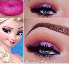 Elsa's makeup! Loooove!