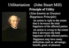 Utilitarianism Philosophy- agree? or are you more for Deontology (Kantian philosophy- having a moral sense of duty)