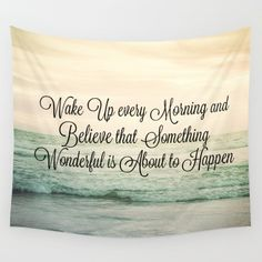 Mint Green Ocean Tapestry Quote Tapestry Ocean Tapestry Mint Quote Tapestry Wall Hanging College Dorm Room Decor Apartment Decor Glamping