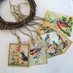 Vintage Style Bird Gift tags Any Occasion £2.50