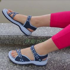 Sporty sandals – Best Of Likes Share Ankle Strap Sandals, Shoes Sandals, Beach Sandals, Stylo Shoes, Loafers For Women, Shoes Women, Indian Shoes, Womens Summer Shoes, Beautiful Shoes