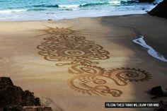 Disegno sulla sabbia