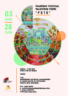 """solo exhibition of valentino vebry """" FETE """" @ Independent Artspace and Management"""