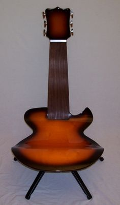 Guitar Chair - would be awesome in the music room~