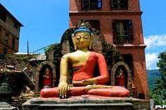 Buddha a Swayambhunath temple