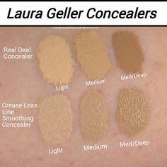 Laura Geller concealer swatches Laura Geller, Concealer, Fruit