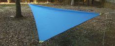 How to make a DIY Asymmetrical hammock camping tarp