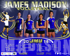 The JMU 2014 women's volleyball schedule poster! Click to download the full image.