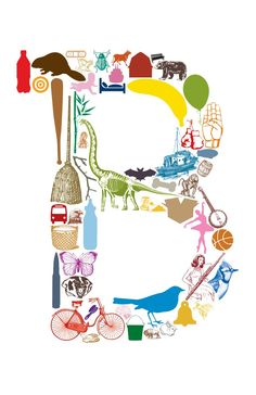 B is for... (11 x 17 Letter B Poster). via Etsy.