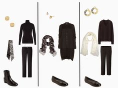 A Black Capsule Wardrobe, with Pearl, Lace, Gold, Filigree and Flower Accessories