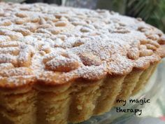 TARTA DE LA ABUELA con piñones. Thermomix Desserts, Pan Dulce, Almond Cakes, Lemon Desserts, Pie Dessert, Food Cakes, No Bake Cake, Cake Cookies, Cake Recipes