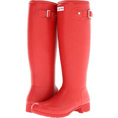 Red Hunter Boots for rainy day games. #teamKS #kendrascott