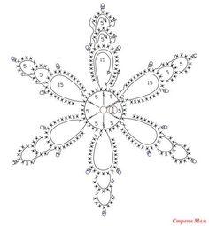 Вязаные снежинки крючком схемы | christamas diy decorations ...