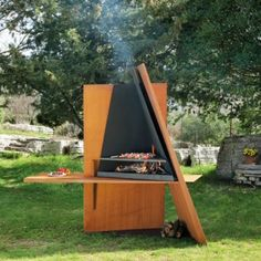 Awesome Useful Sculpture Outdoor Grill Design from Focus