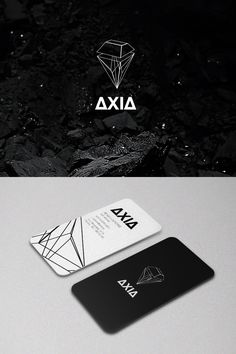 business card, two-sided, black-and-white, angles, geometric, simple, elegant, line, crop