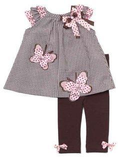 Rare Editions Baby Girls Butterfly Seersucker Dress Outfit Set w/ Leggings , Brown , - Toddler Dress, Toddler Outfits, Kids Outfits, Little Dresses, Little Girl Dresses, Toddler Fashion, Kids Fashion, Baby Dress Patterns, Seersucker Dress