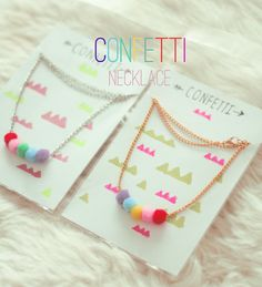 Confetti necklace by Katratzi on Etsy, $19.00