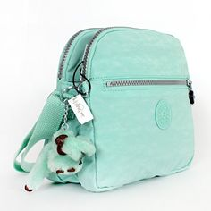 Kipling Keefe Shoulder Handbag Crossbody Sea Foam Green