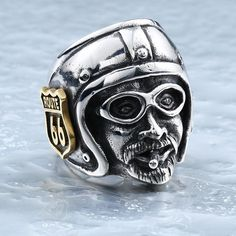 Biker on the Road Biker Ring (Size 7-13)