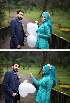 Betül & Ufuk #engagement #couple #spring #balloon