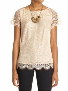 Sabine vintage lace blouse $54