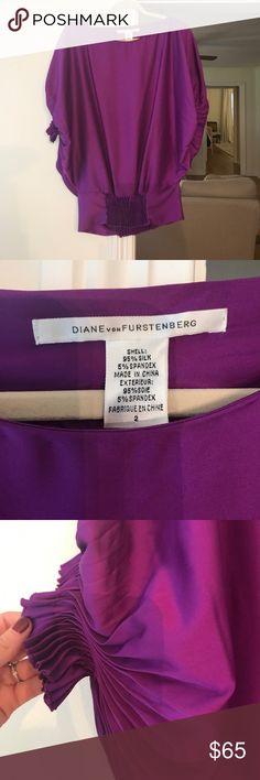 Diane von Furstenberg Silk Blouse Beautiful violet/purple silk blouse - Excellent Condition Diane Von Furstenberg Tops Blouses