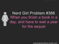 When you finish a book in a day...