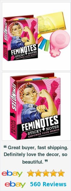Novelty gifts - feminist sticky notes notepad - creative gifts http://www.ebay.com/itm/Feminist-Sticky-Note-Pad-Female-Power-/172206216812