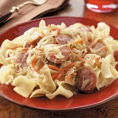 German Style Kielbasa and Noodles Recipe
