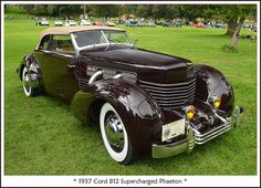 """The September 2014 Orphan Car show at Riverside Park in Ypsilanti, Michigan. The show was shortened slightly by incoming rainy weather. All of my classic car photos can be found here: Car Collections Press """"L"""" for a full-scale image. Cord Automobile, Automobile Companies, Duesenberg Car, Vintage Cars, Antique Cars, Auburn Car, Car Photos, Car Images, Images Photos"""